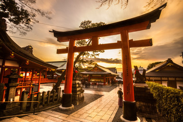 Printed kitchen splashbacks Japan Fushimi Inari Taisha Shrine in Kyoto,