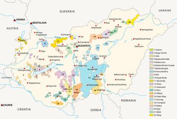 hungary wine regions map