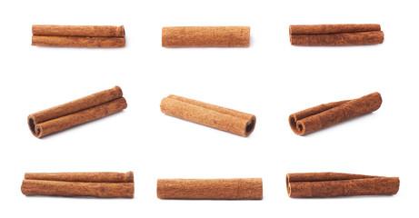 Multiple single cinnamon sticks