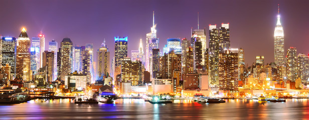 Foto auf Gartenposter Bestsellers Manhattan skyline at night.