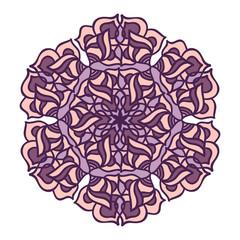 Abstract round mandala