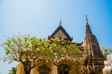 Siemreap,Cambodia.Temple and stupas