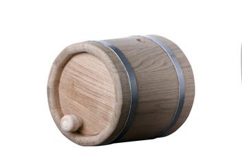 Oak Barrel isolated on white