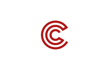 Letter C Logo vector alphabet design element template. ABC conce