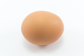 Clean egg for health with isolate background.