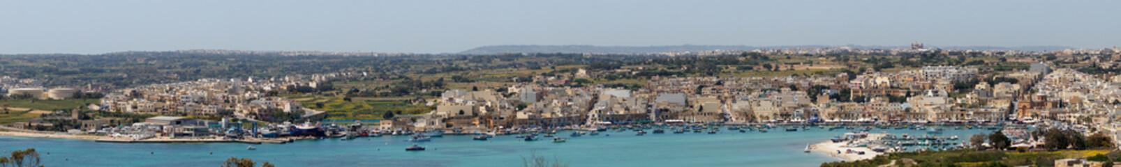 Foto op Canvas ville de Marsaxlokk