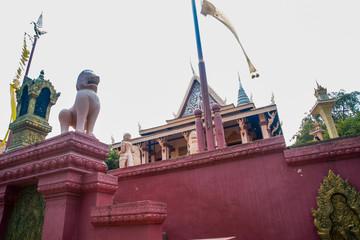 Watt Phnom Temple Cambodia.Phnom Penh.