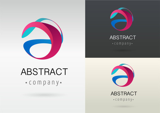 trendy abstract, vibrant and colorful icon, element