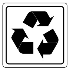 Black recycle sign