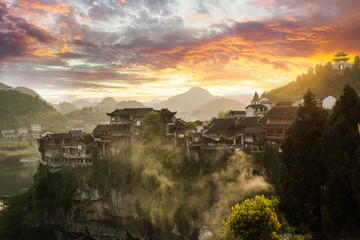 Furong zhen is ancient vilage in Huna province, China
