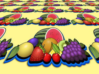 Fruits heap perspective image