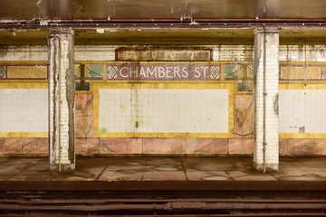 Chambers Street Subway Station - New York City