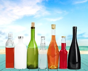 Bottle, Alcohol, Wine.