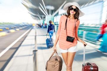Tourist, Women, Luggage.