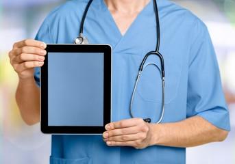 Medical, doctor, tablet.