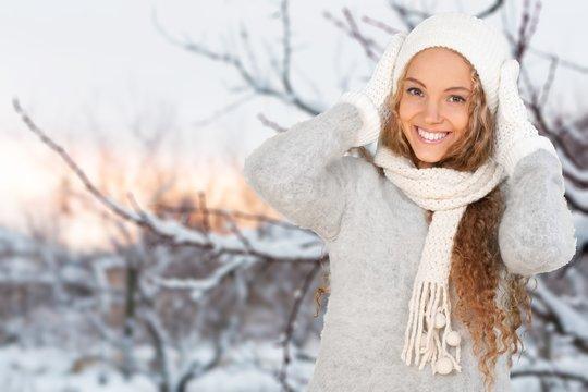 Winter, Women, Scarf.