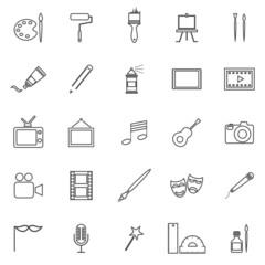 Art line icons on white background