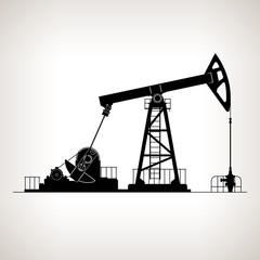 Silhouette Pumpjack or Oil Pump