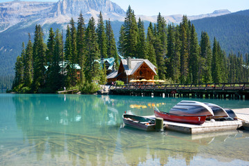 Emerald Lake im Yoho Nationalpark, British Columbia, Kanada