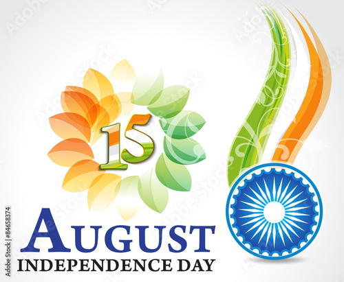 Indian Independence Day Background With Ashok Chakra Stock Image
