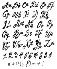 Vector handmade alphabet