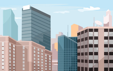 Vector city flat illustration