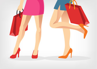 Vector shopping illustration