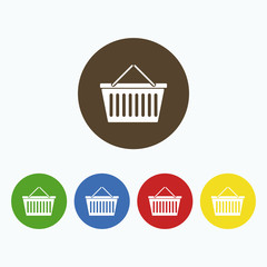 Simple icon shopping cart.