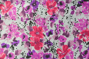 flower pattern cloth fabric.