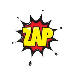 Zap - Comic Speech Bubble, Cartoon