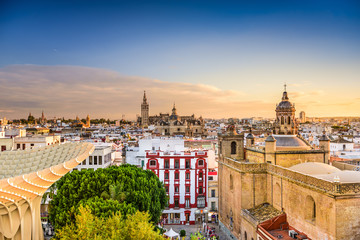 Seville Spain Skyline Wall mural