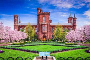 Smithsonian Building in Washington DC, USA.