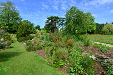 Aluminium Prints Garden A burnt out English country estate and gardens in June 2015