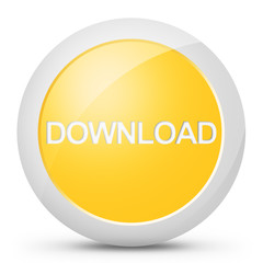 Tasto pulsante download colore giallo