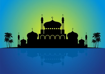 2015 blue eid mubarak landscape design