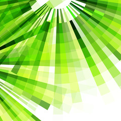 Vector old style green colors geometric background