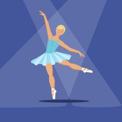 Cute ballerina in the spotlight