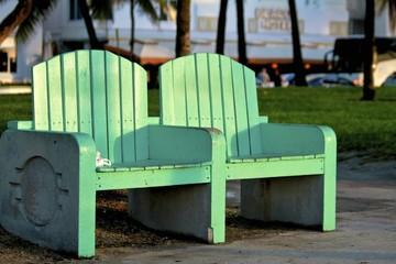 Park bench, Ocean Drive