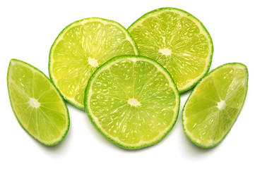 Citrus lime fruit slice