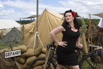 PinUp posing on Bike