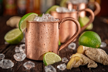 Cold Moscow Mules - Ginger Beer, lime and Vodka