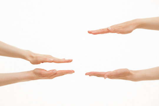 Hands showing different sizes - from small to big
