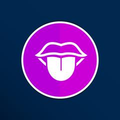 Tongue icon vector isolated human fun anatomical
