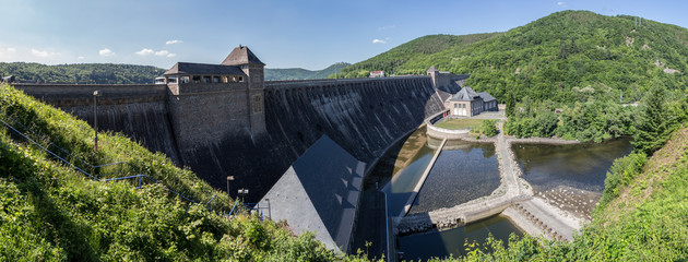 edersee dam germany high resolution panoramic picture