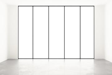 Blank white room