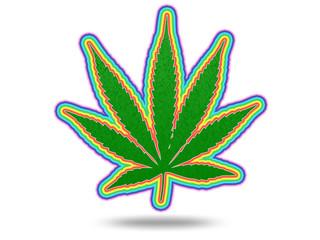 Cannabis Leaf with Spectrum