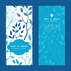 Vector blue forest vertical frame pattern invitation greeting