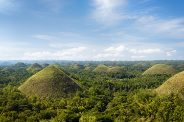 Poster Hill Chocolate Hills in Bohol Island, Philippines.
