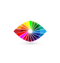 Eye vision colorful logo