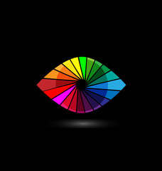 Eye vision colorful logo vector